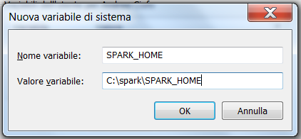 Spark come variabile di Sistema